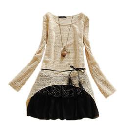 Hot sell women dress winter 2015 retro stitching lace dress bottoming dress women dress long-sleeved wholesale vestidos NZ0