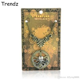 Wholesale Antique Silver Skull Octopus STEAMPUNK Cthulhu Squid Gear Pendant Antique Bronze Link Chain Necklace Victorian New STPK15020