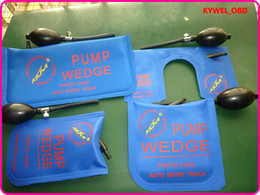 Wholesale KLOM Small Middle Big U size air wedge Air pump wedge Inflatable Unlock Door car Blue Color
