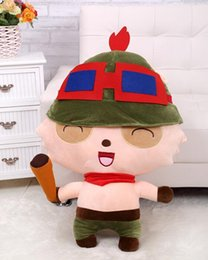 Wholesale LOL cm Teemo Stuffed Plush Toy Doll Game Anime Player Gift Baby Collect KIds Toy The Swift Scout mini size Christmas Present