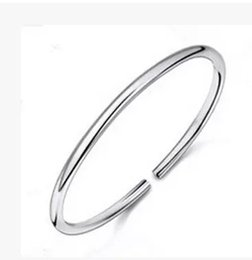 Wholesale 2015 Promotion Limited Sterling Silver Bracelet Fashion Jewelry Smooth Solid Skill High Light Ring Korean Version Male And Female Models