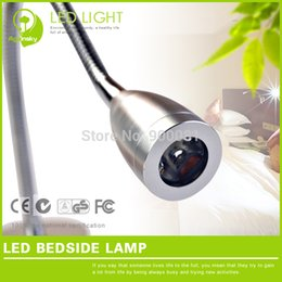 New Design 1W LED Bed Head Reading Light 220 volt Warm white with Stretch Flexible Metal Tube for Bedroom Sleep lighting
