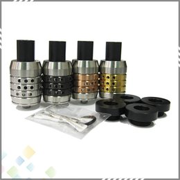 Wholesale Newest N23 Atomizer N23 RDA Rebuildable Atomizer with Colors Stainless Steel Rings Adjustable Airflow Wide Bore Drip Tip Holes DHL Free