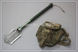 Wholesale DHL Dorjee Chinese Multifunctional Folding Shovel For Military Outdoor Camping Car Survival Use Portable Shovel