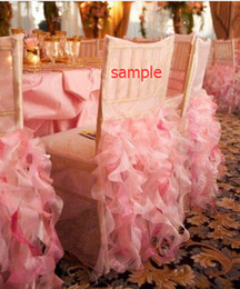 Wholesale Sample Of Wedding Chair Covers Ruffles Organza Wedding Accessories Chair Sashes