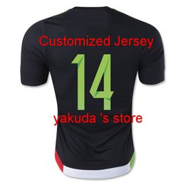 Wholesale 2015 Mexico Home Black J HERNANDEZ CHICHARITO Soccer Jerseys Thai Quality Soccer Jersey Customized Soccer Jerseys Football Tops