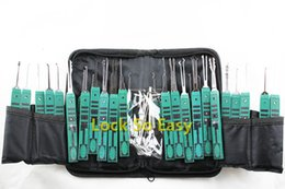 Wholesale Locksmith Supplies Lock Pick Sets KLOM Master Pickset Tooling System With Single Hook Tools