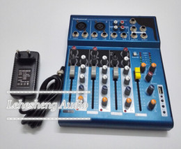 Wholesale 4 Channel Echo Voic Effect DJ Mixer For Stage Home Karaoke Mixer Audio V Phantom Power Supply