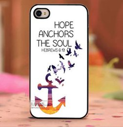 Wholesale Beautiful Bird Fly Anchor Design Hard Plastic Mobile Phone Case Cover For iPhone S S plus