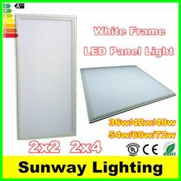 Wholesale CE UL White frame x2 x4 LED panel lights x600mm w w w flat Led Ceiling panel Light warm nature white AC85 V
