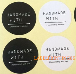 4cm handmade cosmetic DIY stock black and white paper round sticker