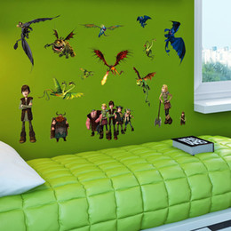2015 Cartoon How to Train Your Dragon 2 wall stickers Removable waterproof Nursery Loving Gift Home Decor Art