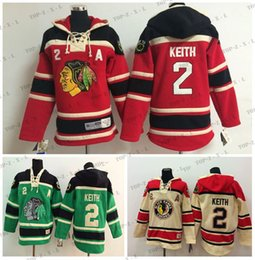 Wholesale Factory Outlet Best Quality Mens Old Time Hockey Hoodies Jersey Chicago Blackhawks Duncan Keith Hoody Red Green Beige Size M XL