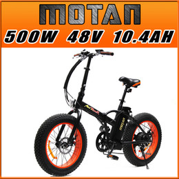 Wholesale PRE SALE Addmotor MOTAN Cycling M Sport Orange FOLDING Fat Tire E Bike Matte Black W V AH quot Electric Bicycle