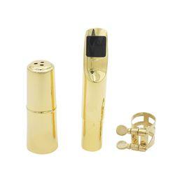 Wholesale Durable Tenor Sax Saxophone Mouthpiece Metal with Mouthpiece Patches Pads Cap Buckle C C C C for Option