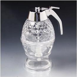 Wholesale-2015 Hot sale 200ML honey dispenser honey glass jar honey bottle honey pot