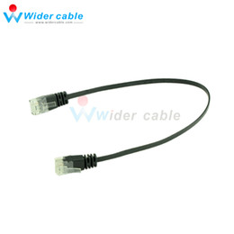 Wholesale 10 Pieces Black Smooth Ultra Flat Cat6 Ethernet Patch Cable RJ45 Network Cable Black Lan Cable ft