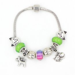 Free Shipping Fashion Jewellery Wholesale New Arrival DIY Animal Cat and Dog Charms European Bead Bracelets Gift