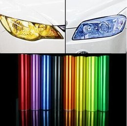 Wholesale 30CM X cm pieces Auto Car Sticker Smoke Fog Light HeadLight Taillight Tint Vinyl Film Sheet