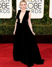 Wholesale Kirsten Dunst Golden Globes Red Carpet Fashion Valentino Couture Tom Lorenzo Site Custom Made Celebrity Dresses Sexy Evening Dresses