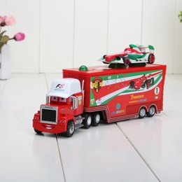 Wholesale 2pcs set piece trucks piece small car alloy and plastic Francesco Bernoulli toy car plastic Mack truck toy