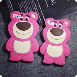 Wholesale 3D Strawberry Bear Soft Silicone Rubber Case For iPhone S Plus MOTO G G2 G3 LG G Pro Lite D680 G3 Stylus D690 Samsung Galaxy G530 J1
