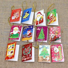 20pcs lot Creative Handmade Paper Cards Christmas Holiday Greeting Cards Merry Christmas Card For Decorating Christmas Tree party decoration