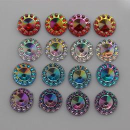 8mm 400PCS AB Color Round Shape Acrylic Flat Back Rhinestones Crystal No Hole For Jewelry dress Making ZZ276