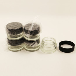 Wholesale glass wax jars pyrex ML transparent tempered glass oil concentrate container jars drop heat resistance