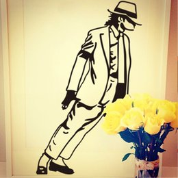 Wholesale 2015 Hot Sale Portrait Wall Decals Michael Jackson Vinyl Wall Sticker Living Room Bedroom Decoration