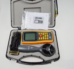 Wholesale Handheld wind speed air flow meter GM8902 anemometer with computer software