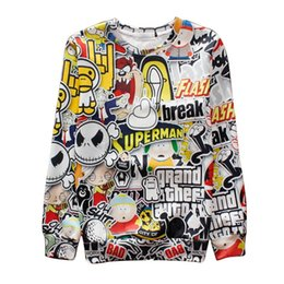 Alisister superman break basketball jersey hiphop sweatshirt for women men Harajuku hoodies 3d cartoon sweatshirts clothes