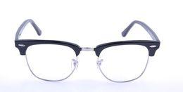 Wholesale Retro Glasses Myopia Big Lens Metal Frame PC Carfic Optical Glasses Classic Oculos Eyewear Tortoise Black Eyeglass Novetly
