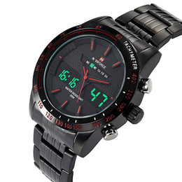 NAVIFORCE Luxury Brand LED Quartz Sport Watch Men Stainless Steel Clock Digital Watch Army Military Wrist Watch