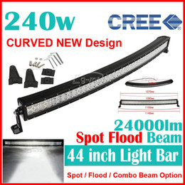 Wholesale 42 quot W Curved CREE LED W Work Light Bar Offroad SUV ATV WD x4 Spot Flood Combo Beam lm V Truck Trailer Fog White Bulb