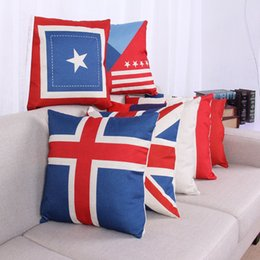 Wholesale Cushions Cover Cheap - national flags Cushions American British Canada French flags pillow case Home office decors high quality beautiful pillow covers cheap