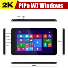 Wholesale In Stock Original Pipo W7 Windows Tablet PC inch Quad Core Intel Z3735G IPS screen G G Win8 Dual Camera OTG HDMI Winpad Tablets