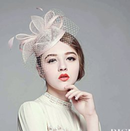 Wholesale TH the most beautiful High end mysterious British princess hat tire yarn net yarn Wedding party shows powder camel