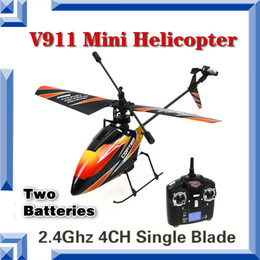 Wholesale-Free Shipping Foam Package NEW WL V911 RC Helicopter V911-1 & V911-V2 helicoptero V911 helicopter with retail color box