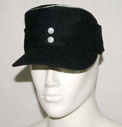 Wholesale WWII GERMAN ELITE OFFICER PANZER M43 FIELD MILITARY MEN CAP COTTON BLACK M L XL