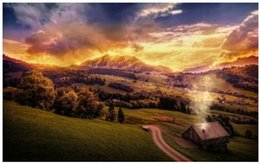 Wholesale Custom x75cm Poster Nice Bedroom Decor Fashion Wall Sticker mountains home road clouds processing Poster