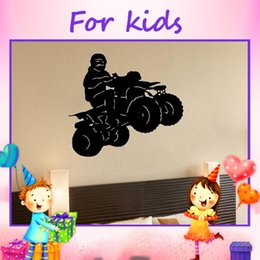Wholesale Adhesive Vinyl Wall Sticker For Home Cartoon Wall Sticker Four Wheeler Quad ATV Boys Room Wall Decal Decor Bedroom Decor