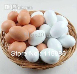 Wholesale wood egg baby paint toy draw model magic tricks False Pretend Kitchen food Kids Toy Children Gift artificial chicken eggs toys