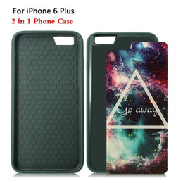 Wholesale Iphone Plus in TPU PC Sublimation Heat Press Cell Phone Cases With Metal Aluminium Plates For Iphone Plus DHL Free