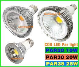 Wholesale 2016 NEW COB Dimmable Led bulb par38 par30 par20 V W W W E27 E26 Par light LED Lighting Spot Lamp light downlight