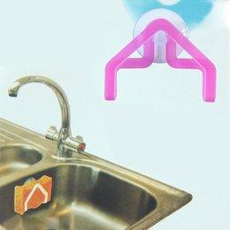 Wholesale 1pcs Kitchen Useful Gadget Sponge Holder Suction Cup Sink Tub Cloth Dish Storage Rack