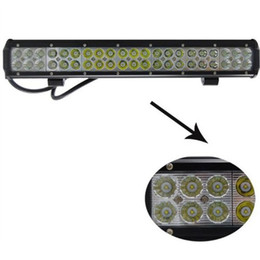 22 inch 126W LED Bar Spot Flood IP67 4X4 Van LED Off-road Light 126W Pickup UTV Wagon Dual Row Truck LED Work Light Bar 12V
