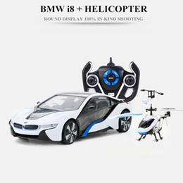 Wholesale Hot Toys RC Cars RC Aircraft Combination packages Dual operation mode Multifunction Remote Control Aircraft Car Kids Toy Gift