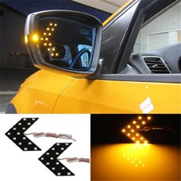 Wholesale 14 SMD LED Arrow Panels For Car Side Mirror Turn Signal Indicator Light Colors