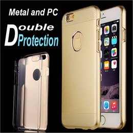 Wholesale iphone s Motomo Hybrid Case Brushed Aluminum Metal Plastic Double Layer Skin Cover For Iphone plus Samsung S6 HTC M9 Brushed Aluminum